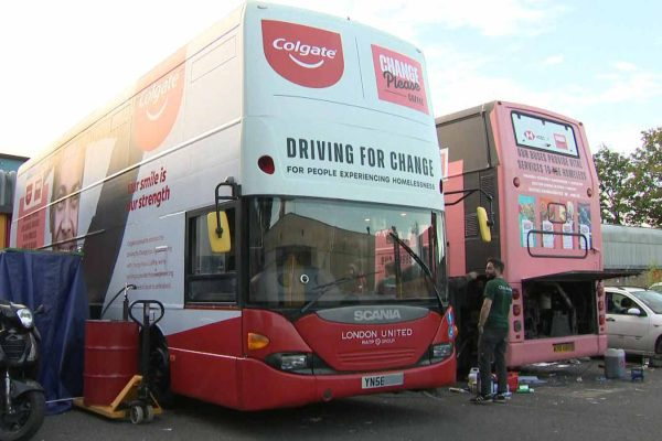 London buses renovated to provide dental care for homeless
